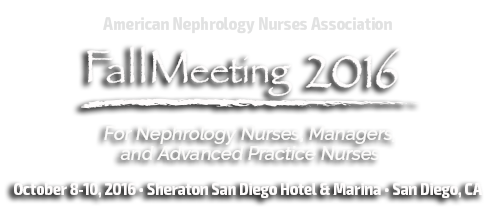 Fall Meeting • October 8-10, 2016 • Sheraton San Diego Hotel & Marina • San Diego, CA